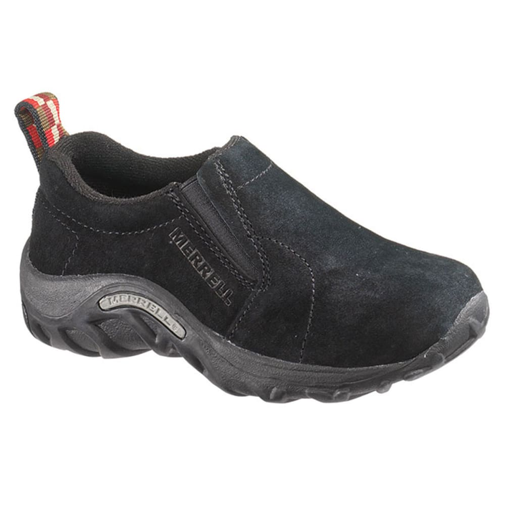 MERRELL Kids' Jungle Moc Leather Shoes - BLACK