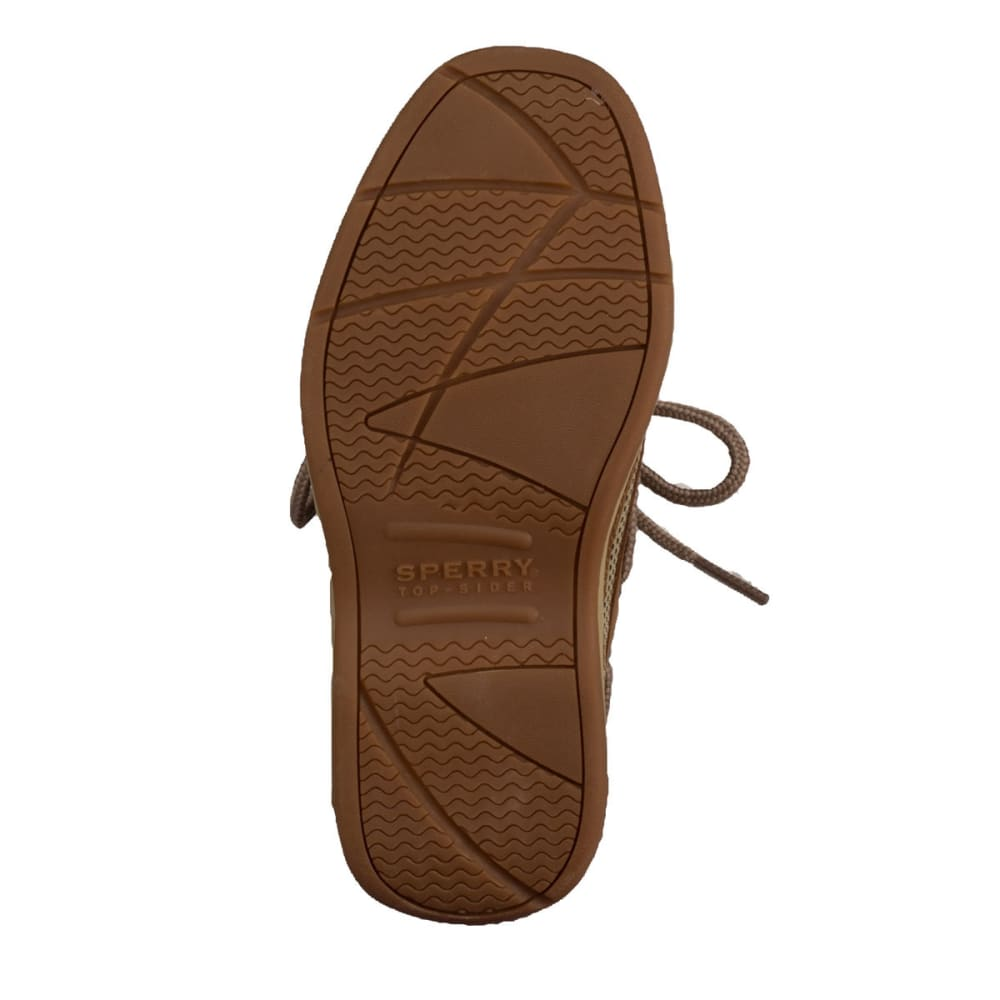 SPERRY Boy's Lanyard Boat Shoes - TAN/NAVY