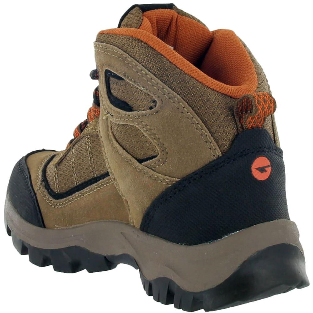 HI-TEC Boys' Hillside Waterproof Jr Brown/Orange, 3-7 - BROWN