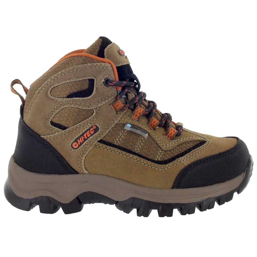 HI-TEC Boys' Hillside Waterproof Jr Hiking Boots - BROWN