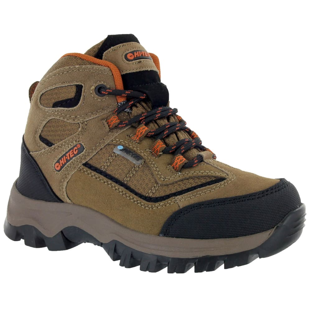 HI-TEC Boys' Hillside Waterproof Jr Brown/Orange, 3-7 - BROWN