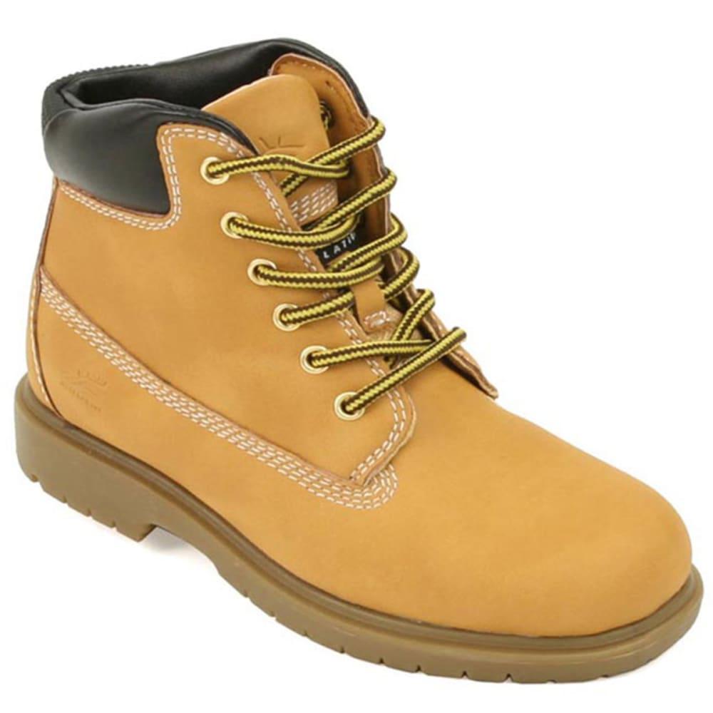 DEER STAGS Big Boys' Mak2 Waterproof Work Boots - WHEAT