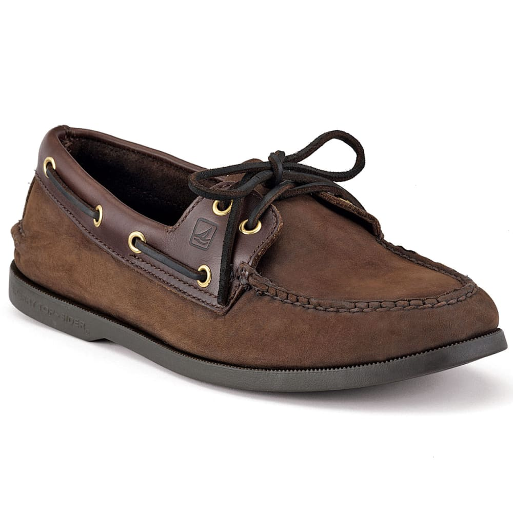 SPERRY Men's Authentic Original 2-Eye Boat Shoes, Medium and Wide Sizes Available - BROWN MEDIUM