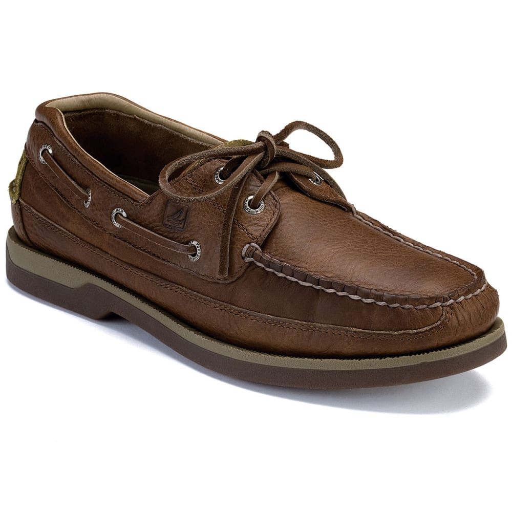 SPERRY Men's Mako 2-Eye Canoe Moc Boat Shoes, Wide - COFFEE