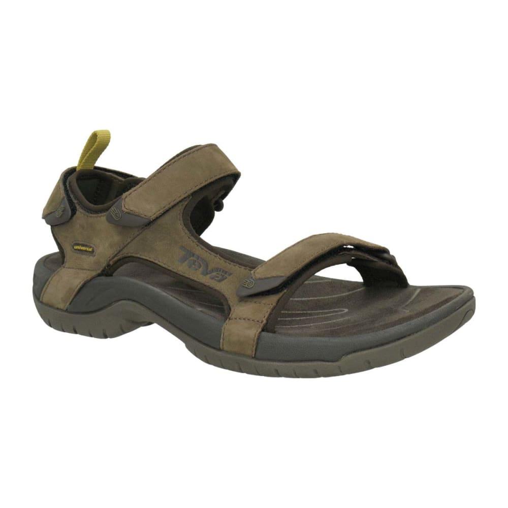 TEVA Men's Tanza Leather Sandals - BROWN