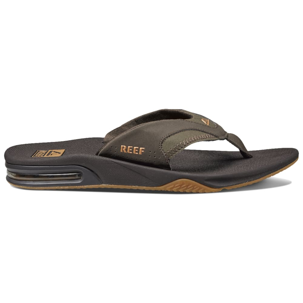 REEF Men's Fanning Flip-Flops, Brown - BRN RF002026BGM