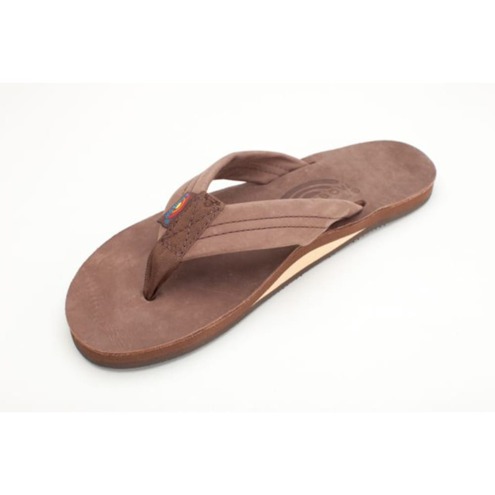 RAINBOW Men's Premier Leather Flip-Flops - BROWN