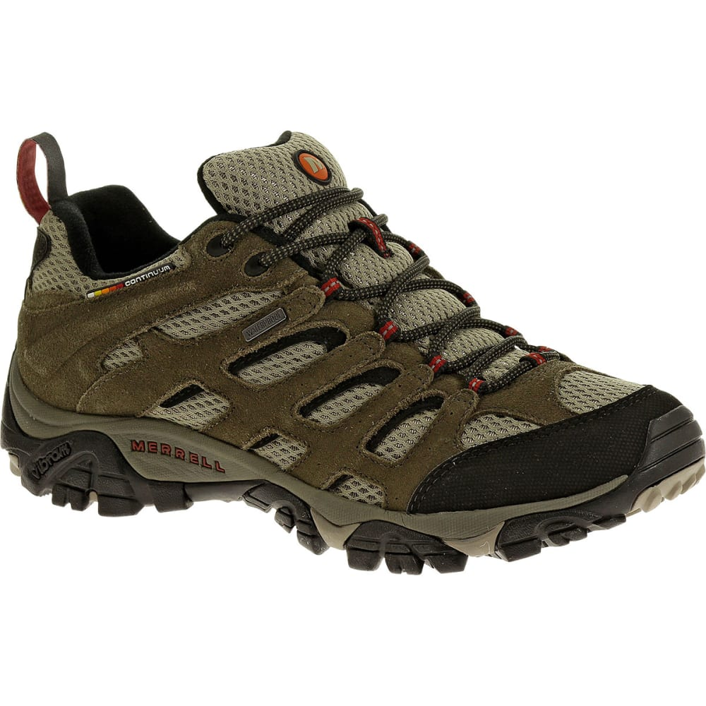 merrell s moab wp hiking shoes bark brown wide