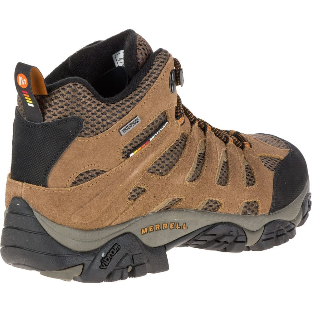 MERRELL Men's Moab Mid WP Hiking Boots, Earth - EARTH