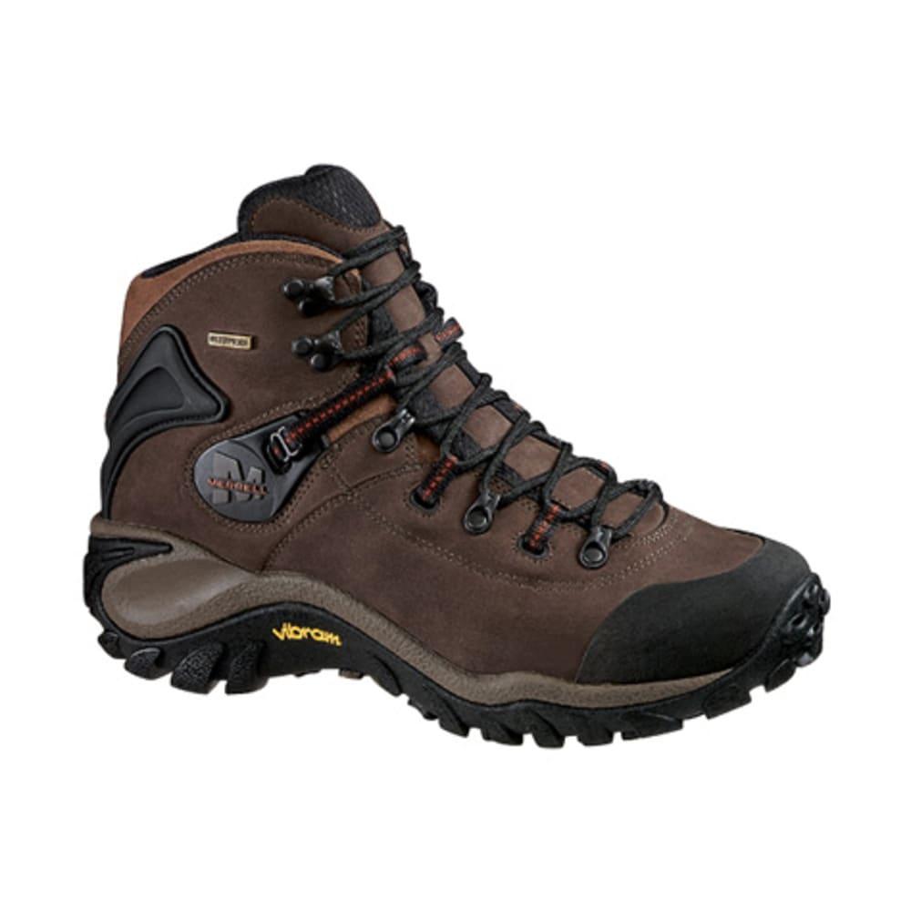 MERRELL Men's Phaser Peak WP Backpacking Boots, Dark Brown - DARK BROWN