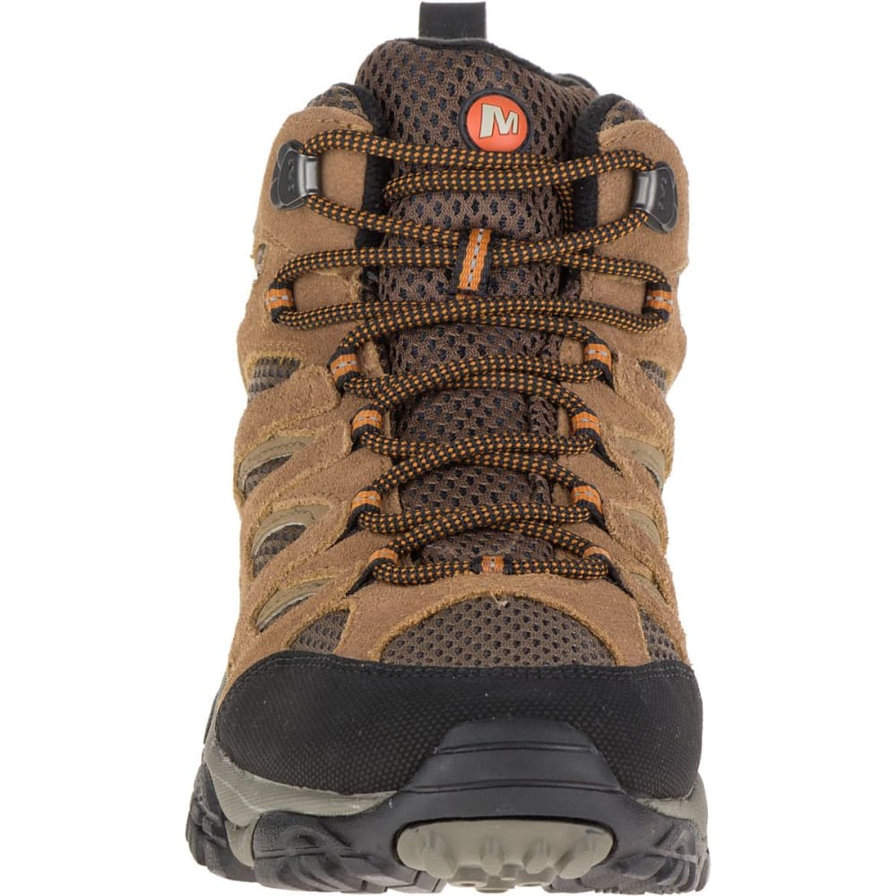 MERRELL Men's Moab Mid WP Hiking Boots, Earth, Wide