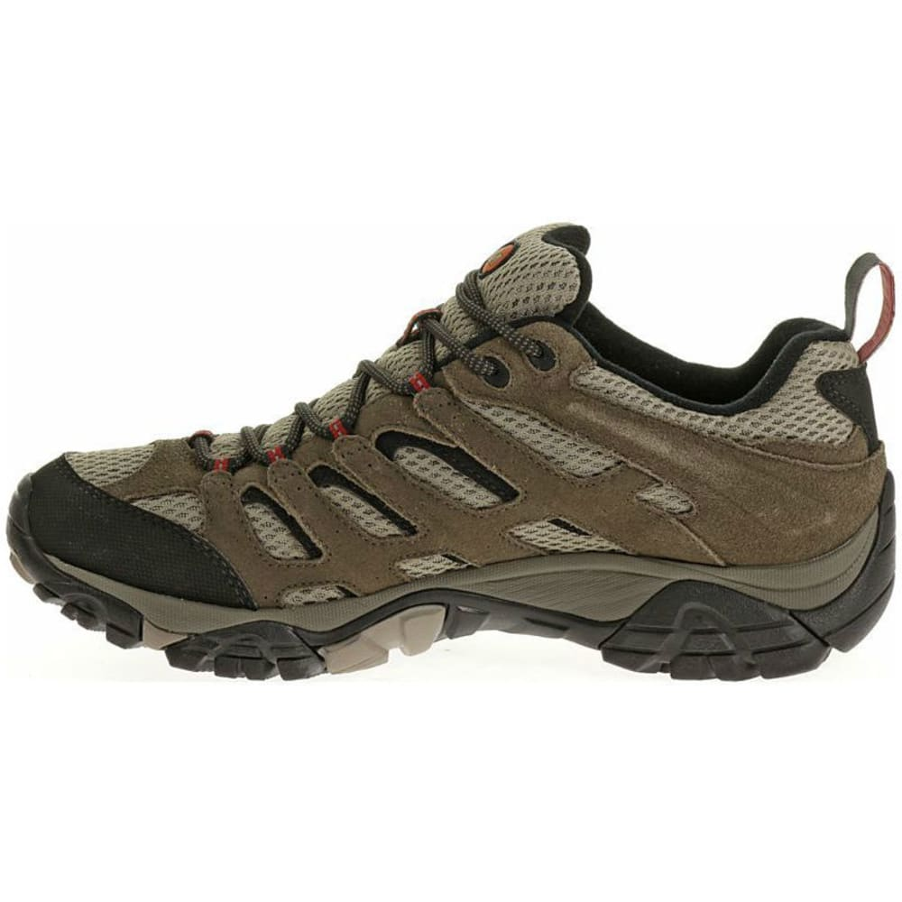 MERRELL Men's Moab WP Hiking Shoes, Bark Brown - BARK BROWN