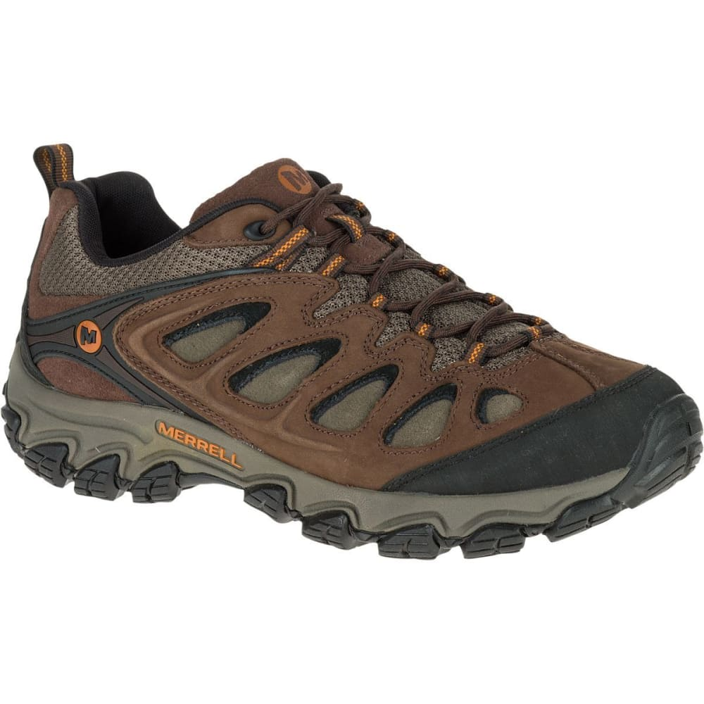 MERRELL Men's Pulsate Hiking Shoes, Black/Bracken, Wide - BLACK/BRACKEN