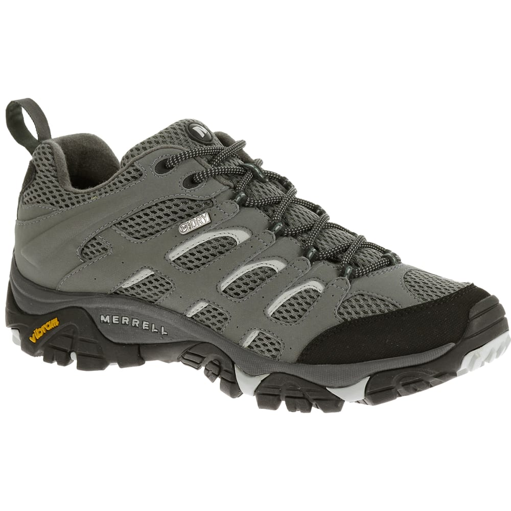 Merrell Mens Moab Waterproof Hiking Shoes, Sedona Sage - Black J32545