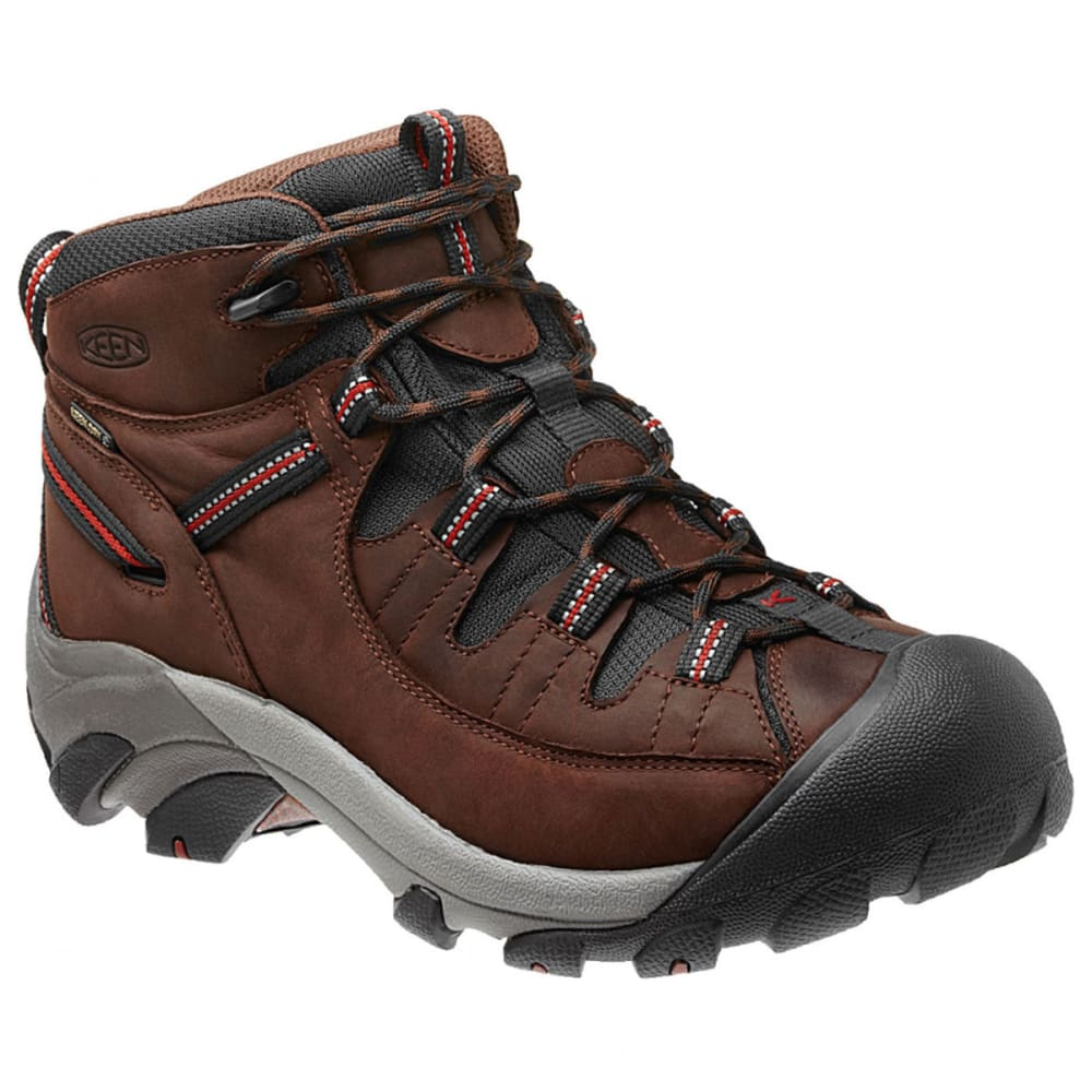 KEEN Men's Targhee II Mid WP Hiking Boots, Chestnut - CHESTNUT