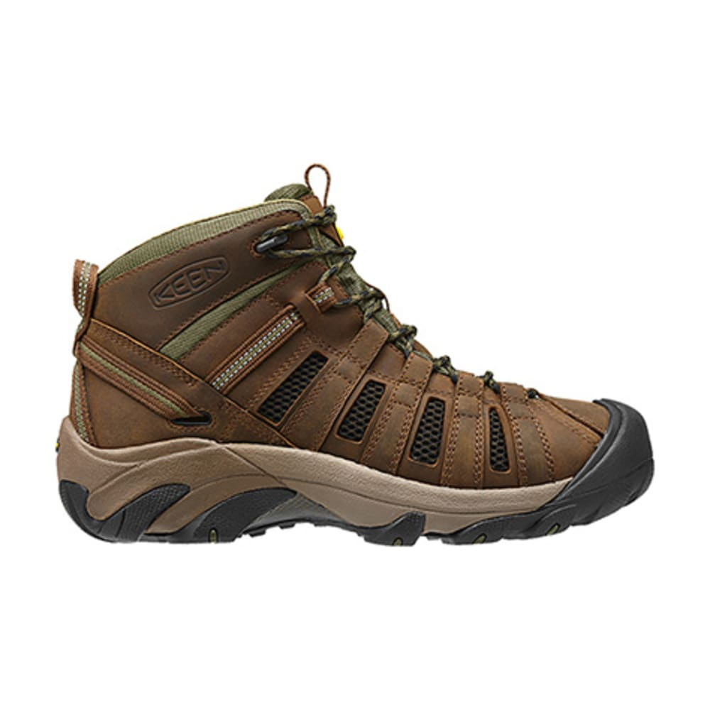 KEEN Men's Voyageur Mid Hiking Boots, Dark Earth - BROWN