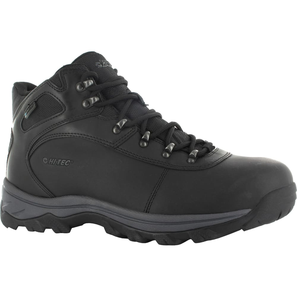 HI-TEC Men's Altitude Base Camp WP Hiking Boots - BLACK DISTRESSED