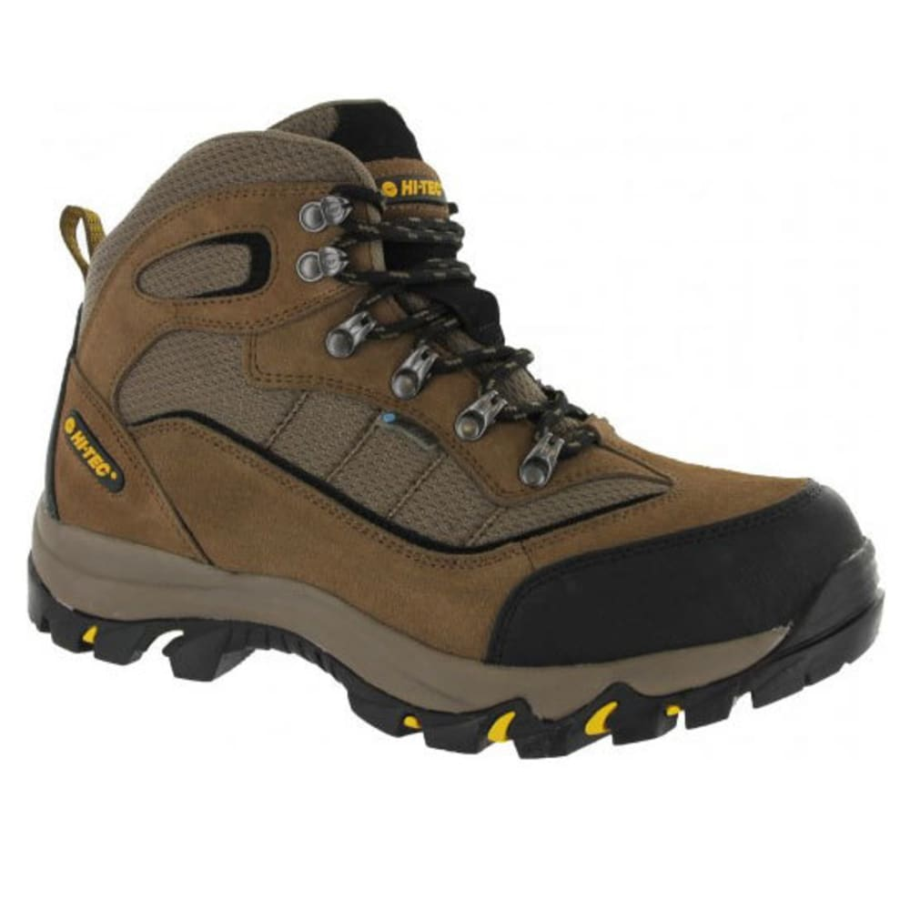 HI-TEC Men's Skamania WP Hiking Boots, Brown/Gold 10.5