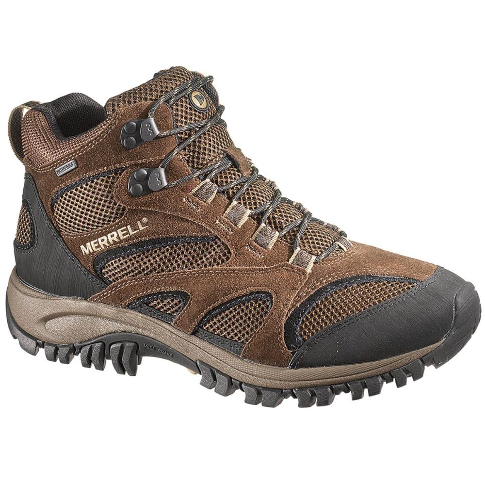 merrell men u0026 39 s phoenix mid wp hiking boots  chocolate