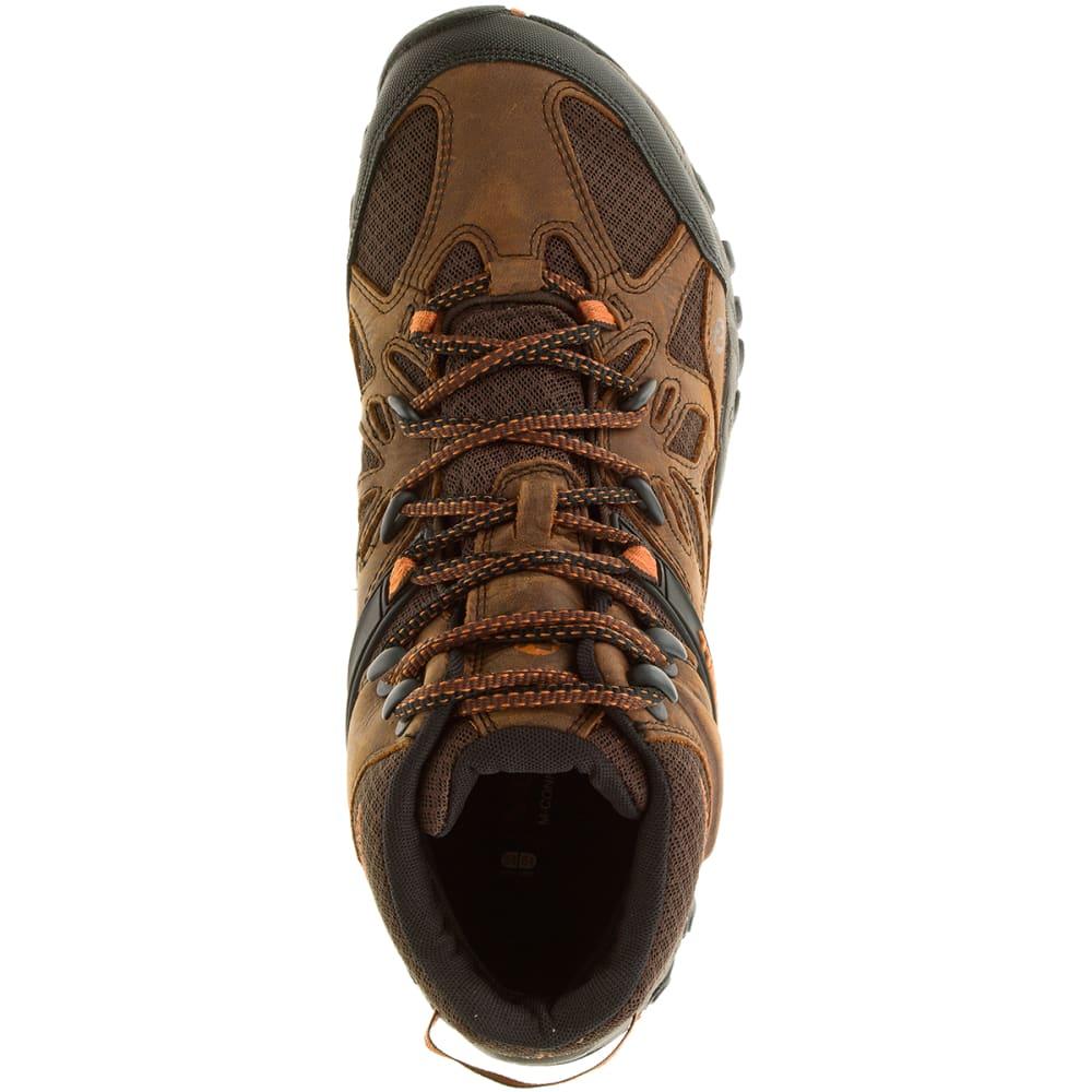 MERRELL Men's All Out Blaze Ventilator Mid Hiking Boots - BROWN/CHEVRON