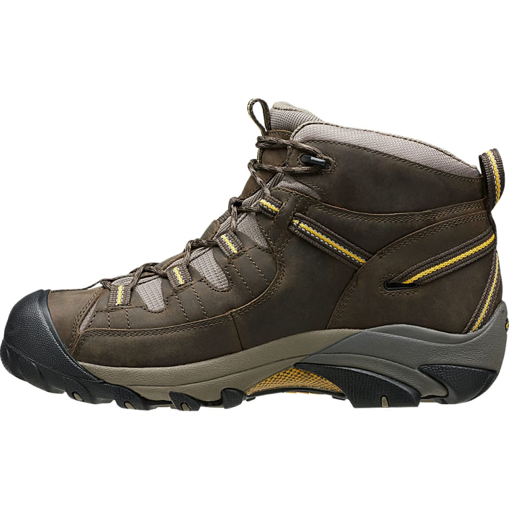 KEEN Men's Targhee II Mid WP Hiking Boots, Black Olive/Yellow - BLACK/YELLOW