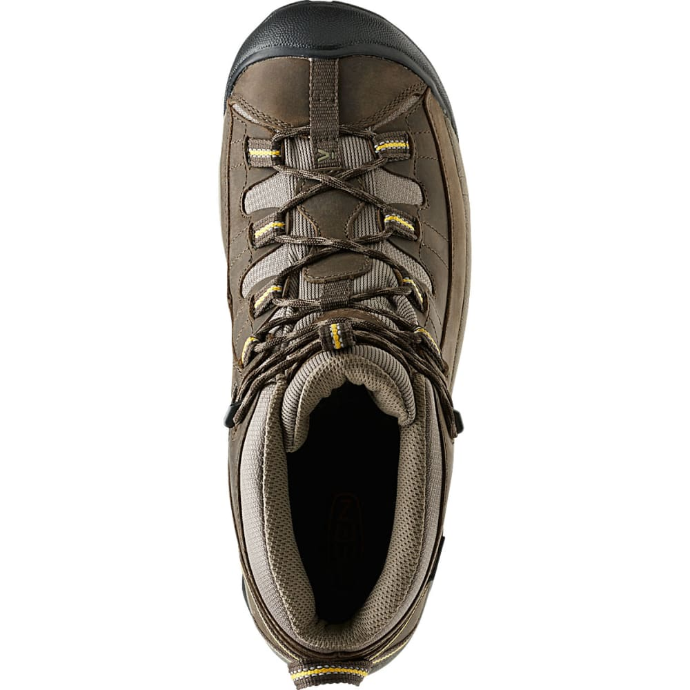 KEEN Men's Targhee II Mid WP Hiking Boots, Black Olive/Yellow - BLACK/YELLOW