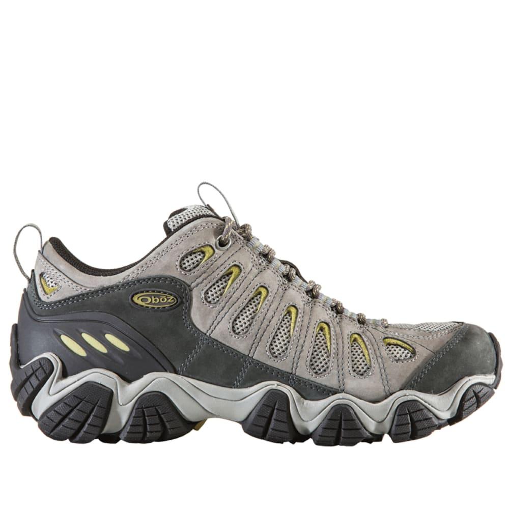 OBOZ Men's Sawtooth Low Hiking Shoes, Pewter - LIGHT GREY