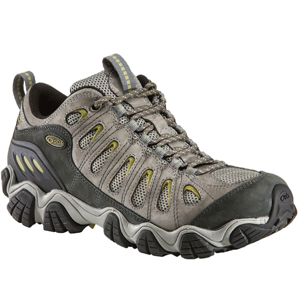 OBOZ Men's Sawtooth Low Hiking Shoes, Pewter - LIGHT GREY