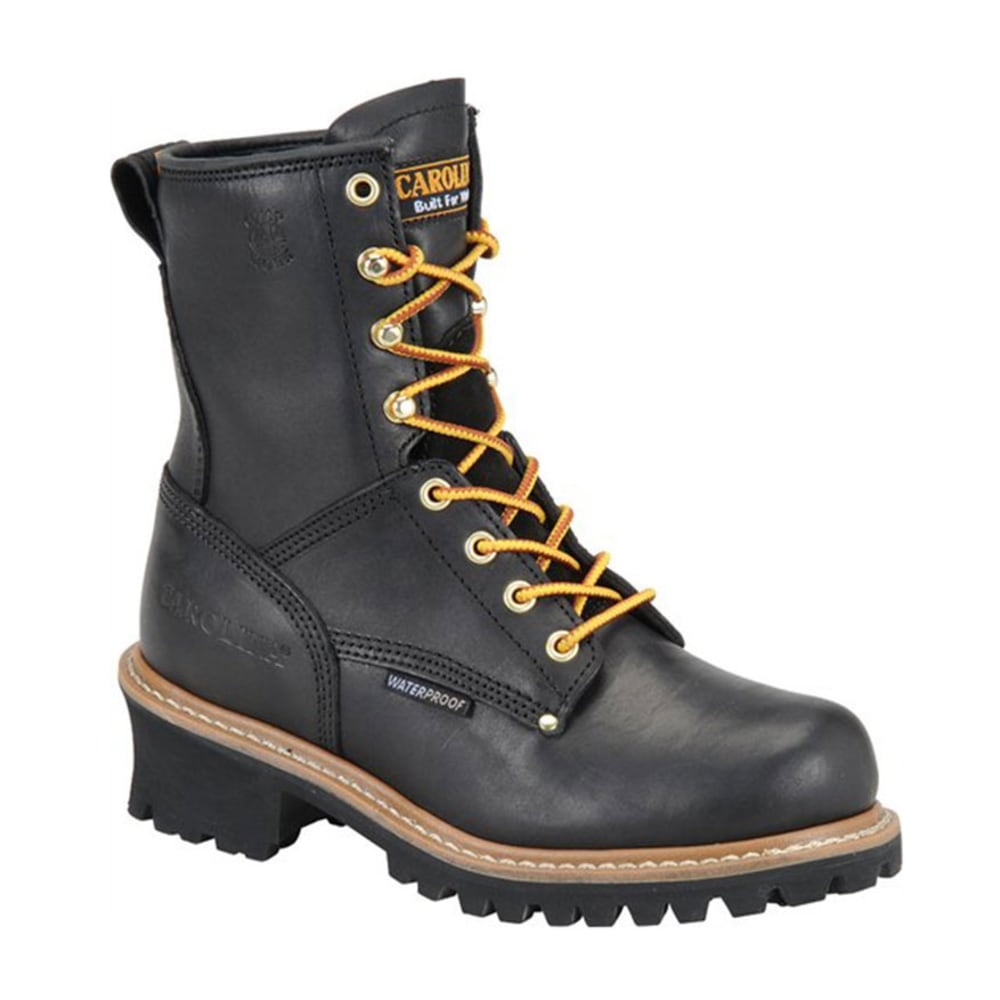 CAROLINA Women's CA420 8 in. Waterproof Logger Boots - BLACK