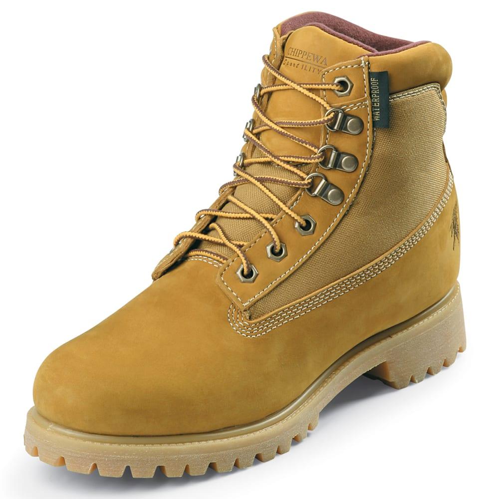 CHIPPEWA Men's 6 in. Nubuc Work Boots, Medium Width - TAN