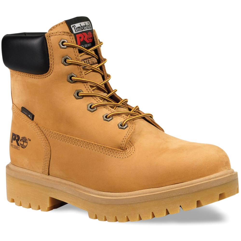 TIMBERLAND PRO Men's Soft Toe Waterproof Work Boots, Wide - WHEAT