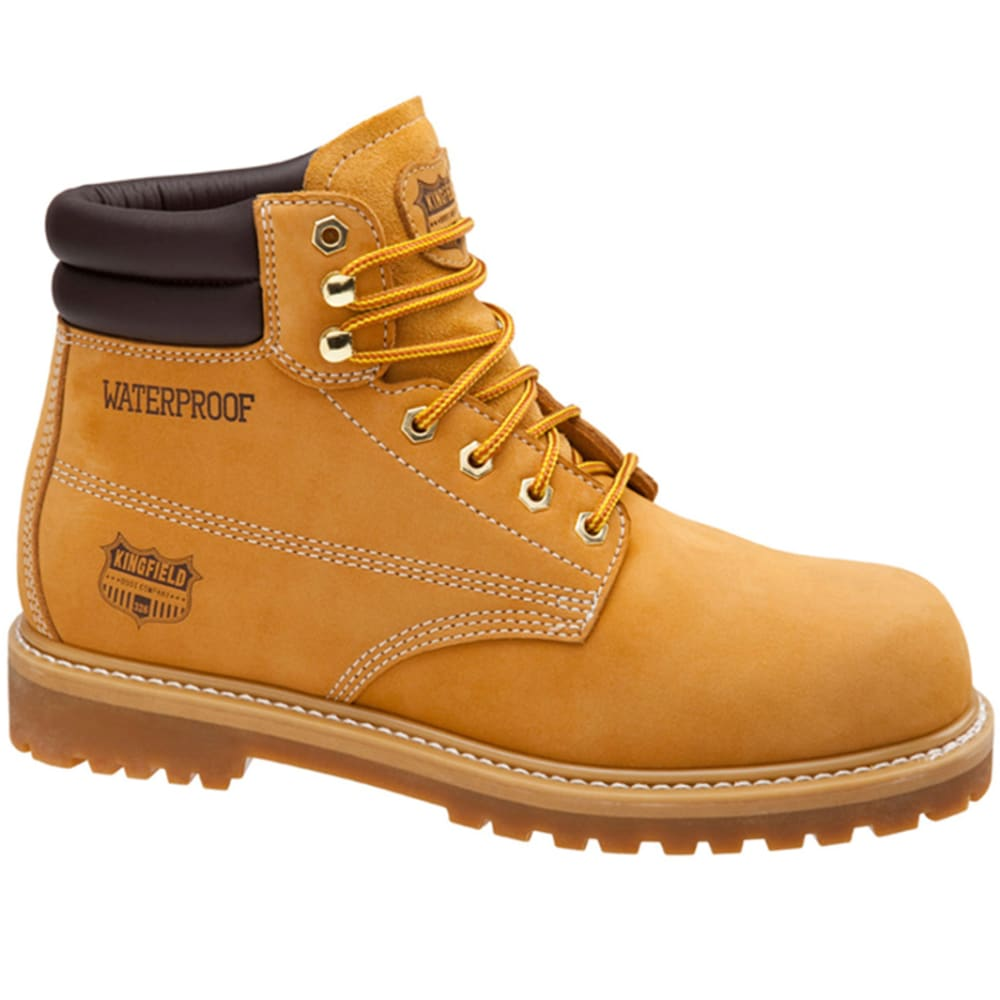 KINGFIELD Men's 6 in. Waterproof  Work Boots - WHEAT
