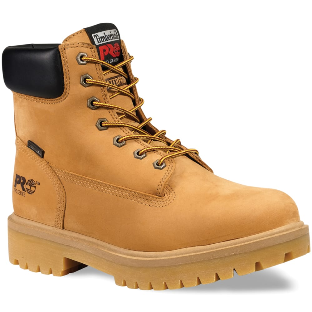 TIMBERLAND PRO Men's 6 inch Steel Toe Work Boots, Medium - WHEAT