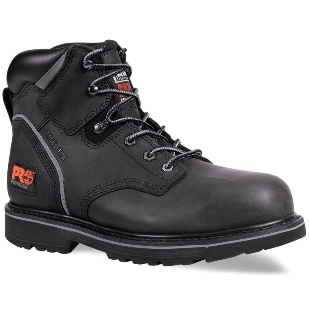 TIMBERLAND PRO Men's Pit Boss Steel Toe Work Boots, Wide - BLACK