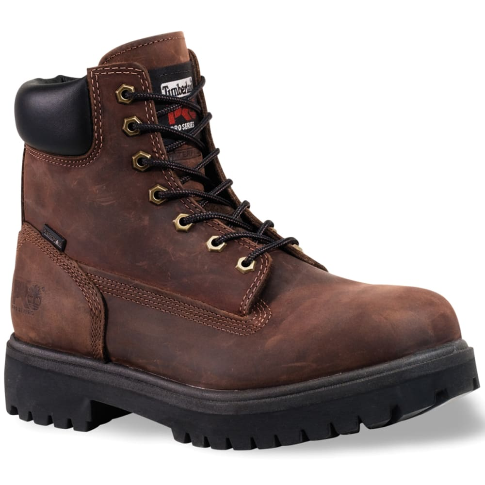 TIMBERLAND PRO Men's Direct Attach Steel Toe Work Boots, Medium - BROWN