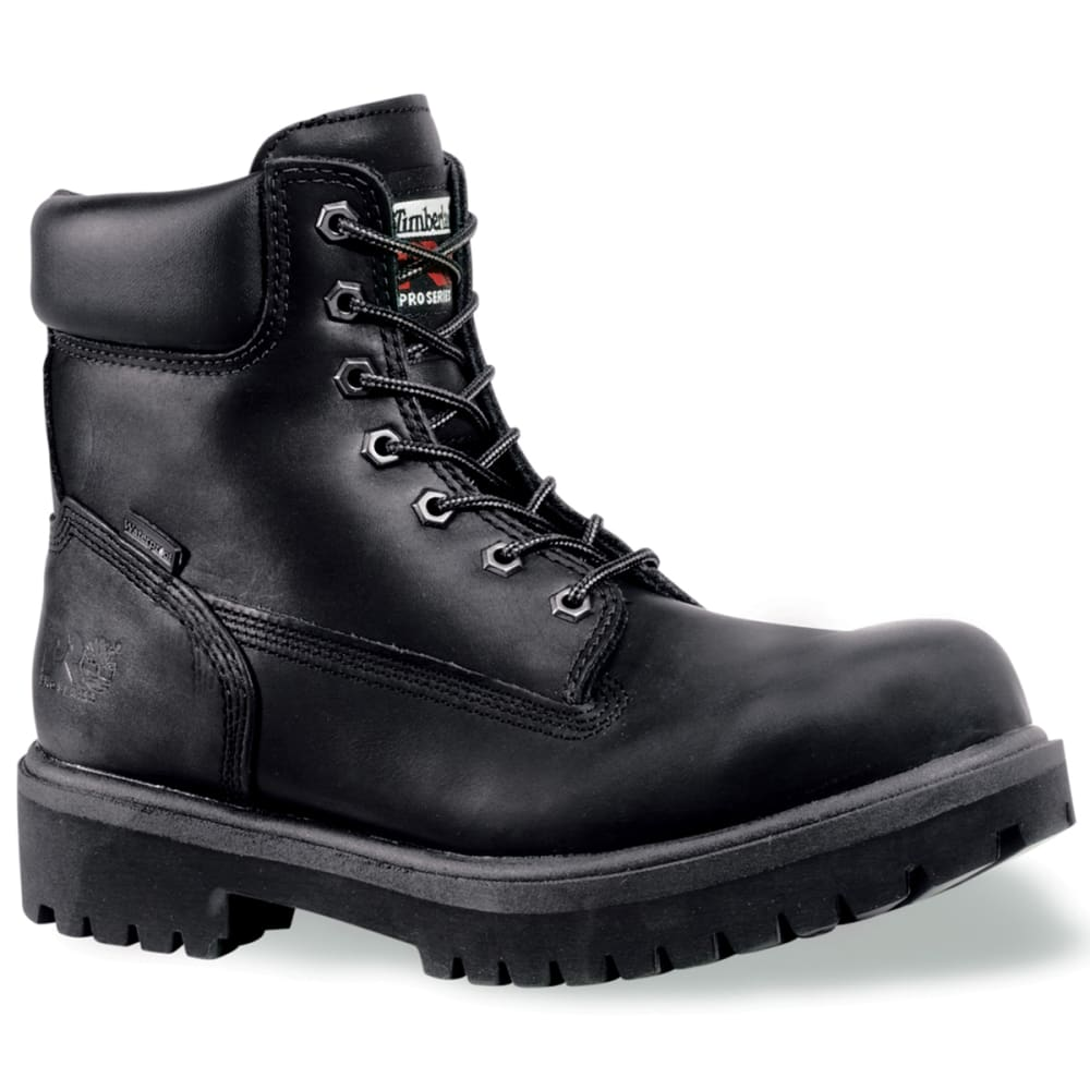 TIMBERLAND PRO Men's 6 inch Steel Toe Boots - BLACK