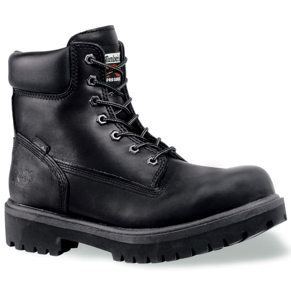 TIMBERLAND PRO Men's 6 inch Steel Toe Boots - BLACK