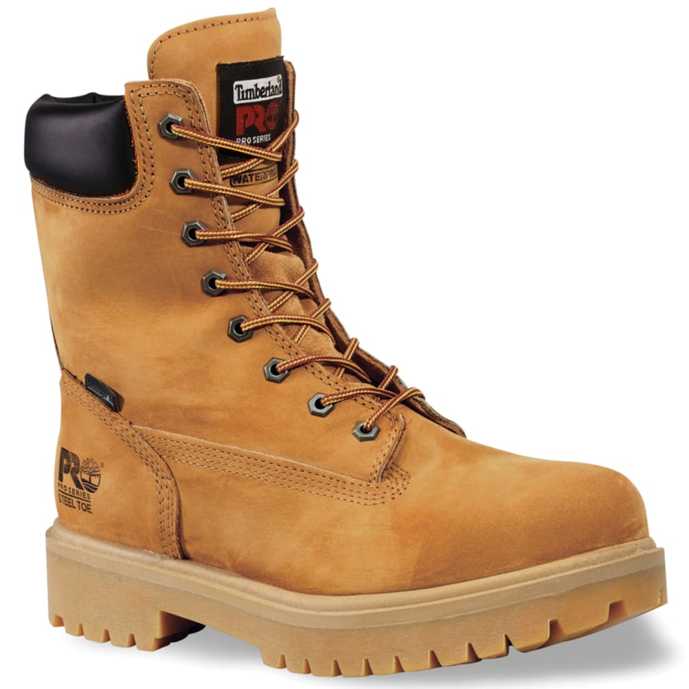 TIMBERLAND PRO Men's Steel Toe Insulated Logger Work Boots, Wide - WHEAT
