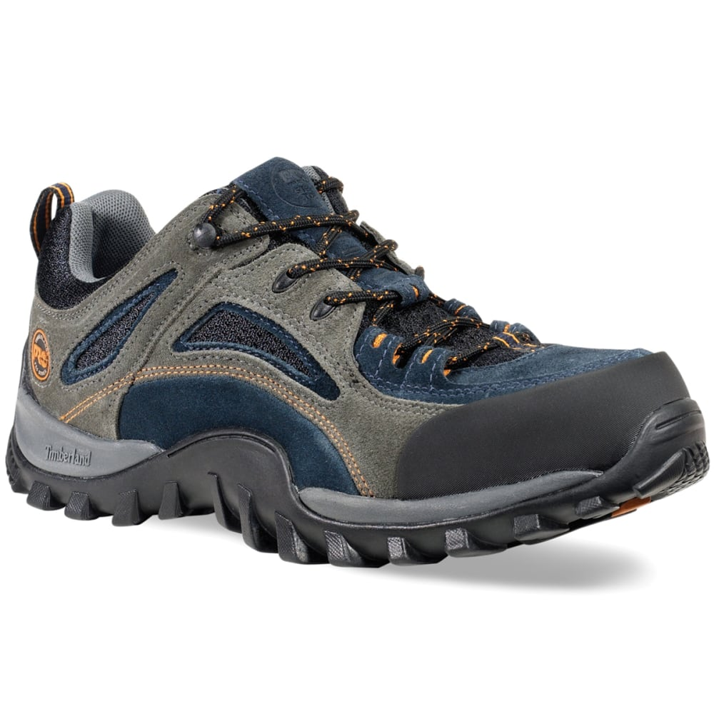 TIMBERLAND PRO Men's Mudsill Low Steel Toe Hiking Shoes, Wide - LIGHT GREY