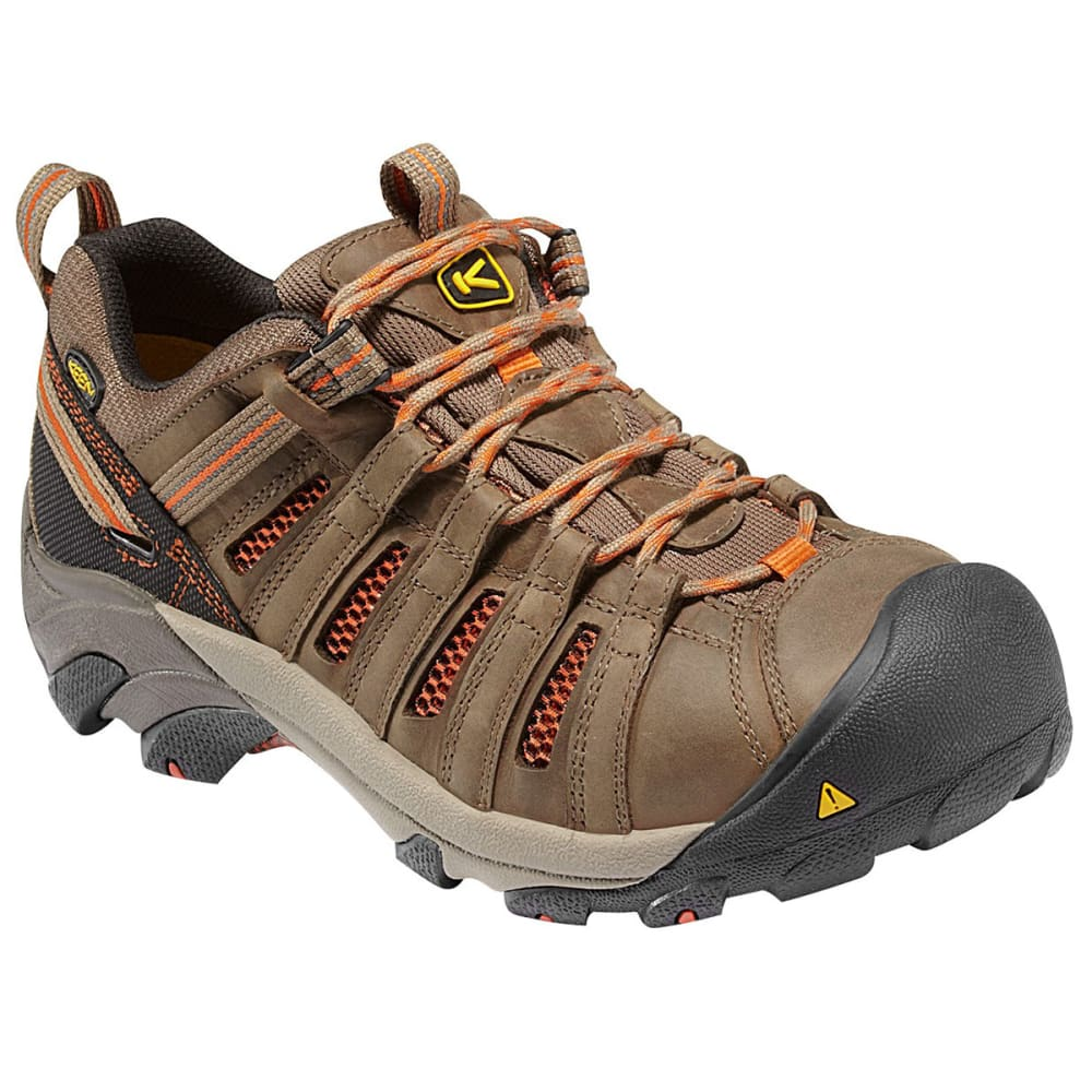KEEN Men's Flint Low Steel Toe Shoes 8
