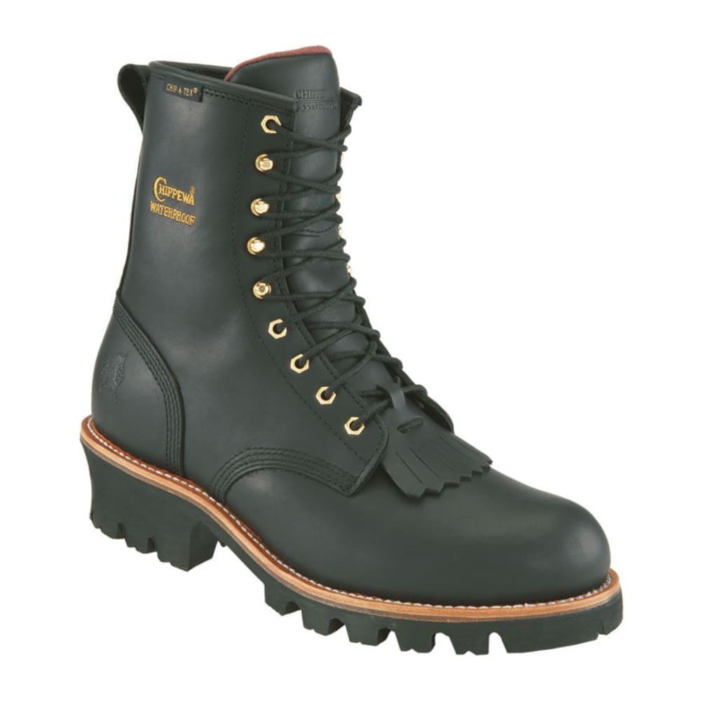 CHIPPEWA Men's Insulated Waterproof Work Boots, Wide Width - BLACK