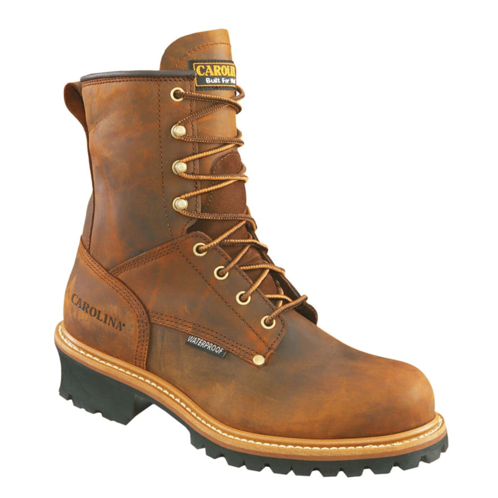 CAROLINA Men's 8 in. Crazy Horse Steel Toe Waterproof Work Boots - BROWN