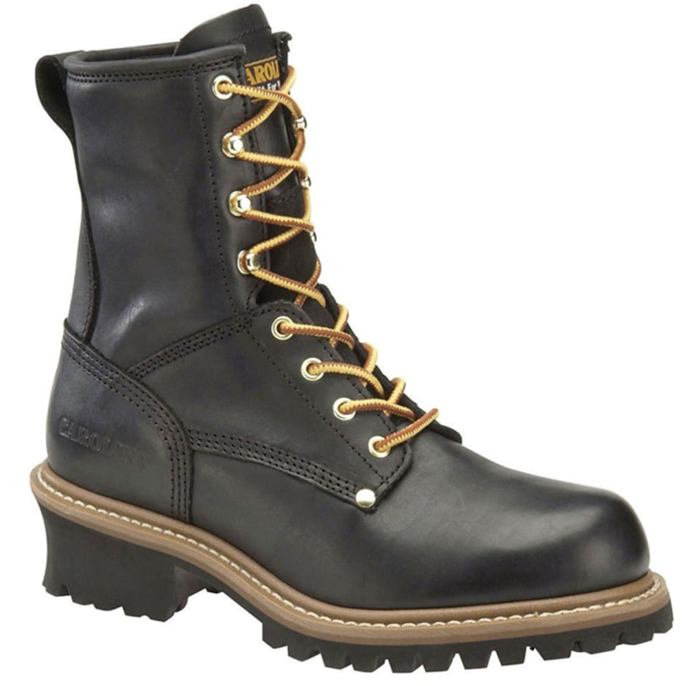 CAROLINA Men's 8 in. Logger Boots - BLACK