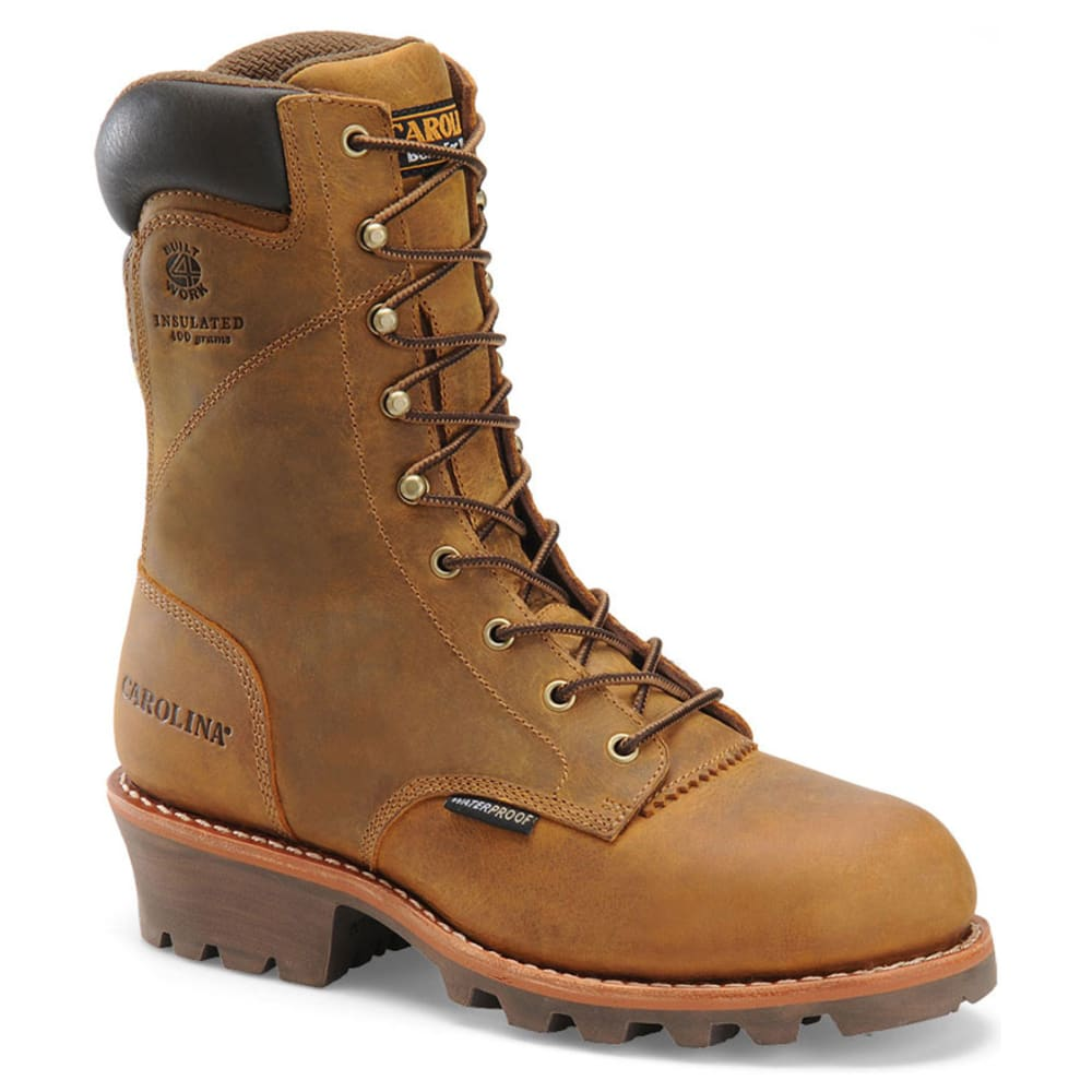 CAROLINA Men's 9 in. Steel Toe Waterproof Work Boots - BROWN