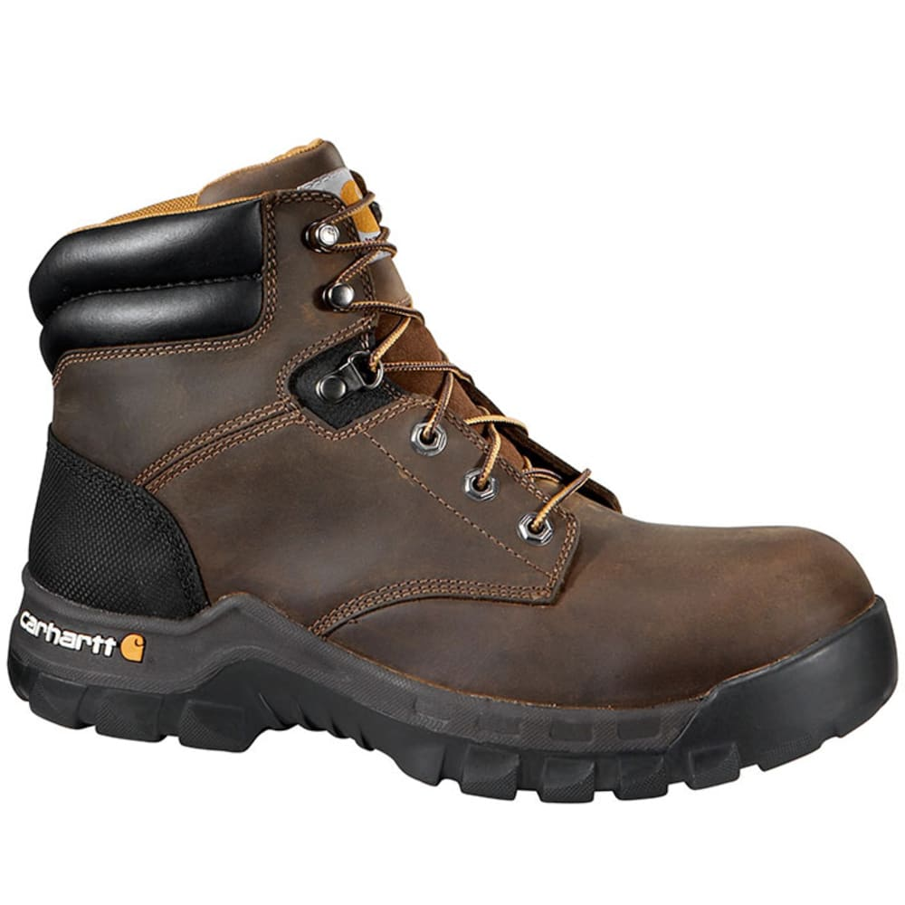 CARHARTT Men's 6 in. Comp Toe Work-Flex Work Boots - BROWN OIL TANNED