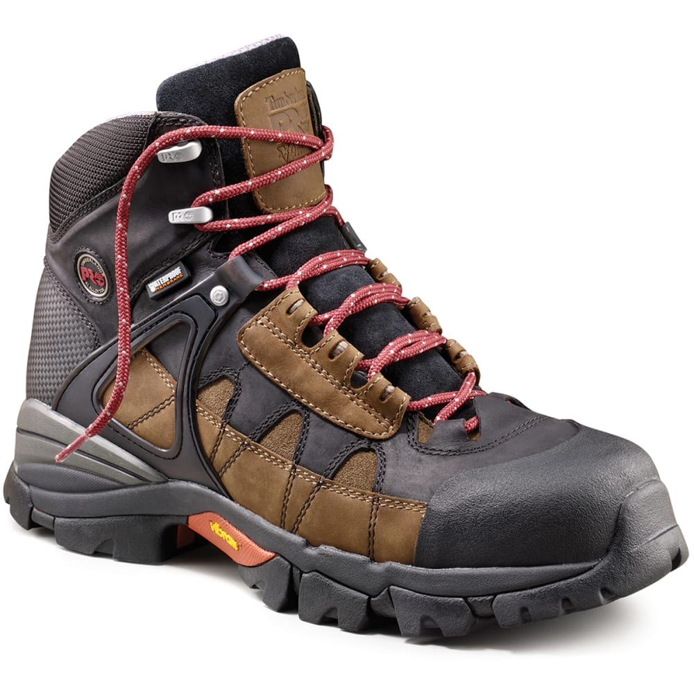 TIMBERLAND PRO Men's Hyperion Waterproof 6 in. Alloy Safety Toe Boots - BROWN