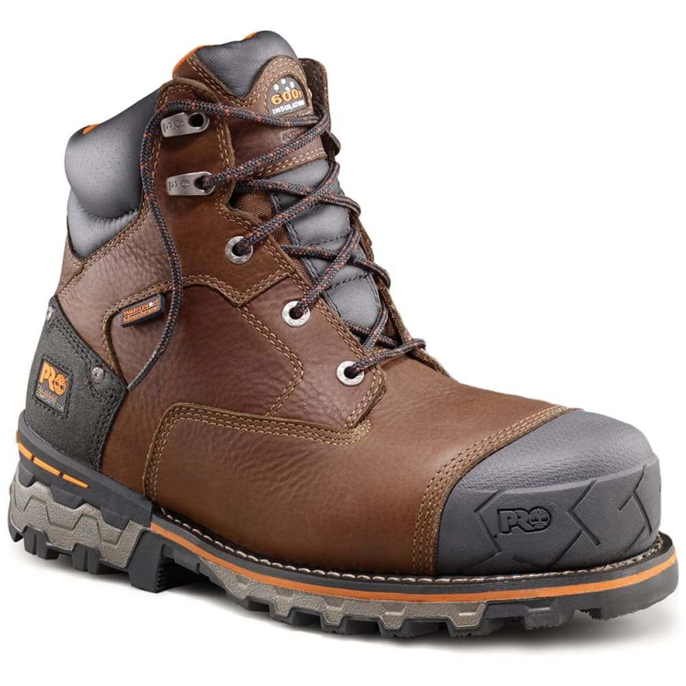 99e8608444b2 TIMBERLAND PRO Men  39 s Boondock 6 inch Composite Toe Work Boots - BROWN