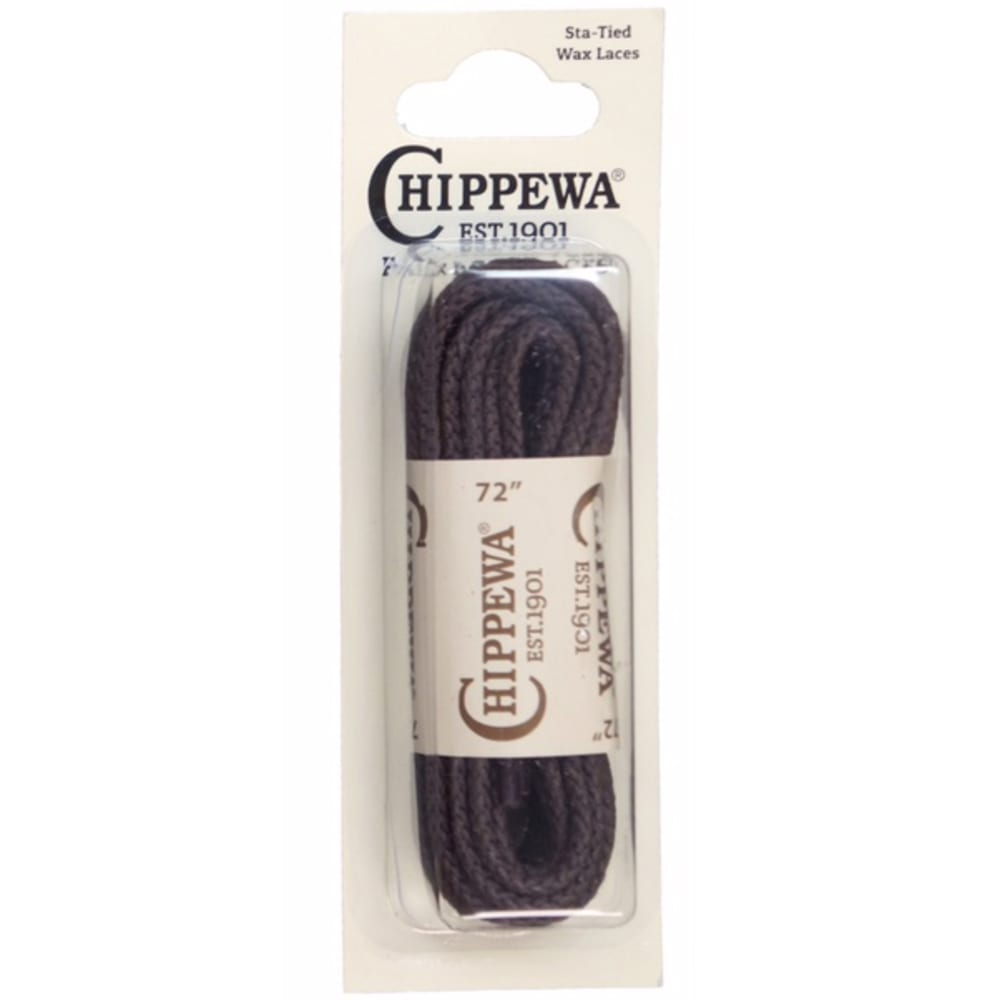 CHIPPEWA 72 in. Sta-Tied Waxed Boot Laces ONE SIZE
