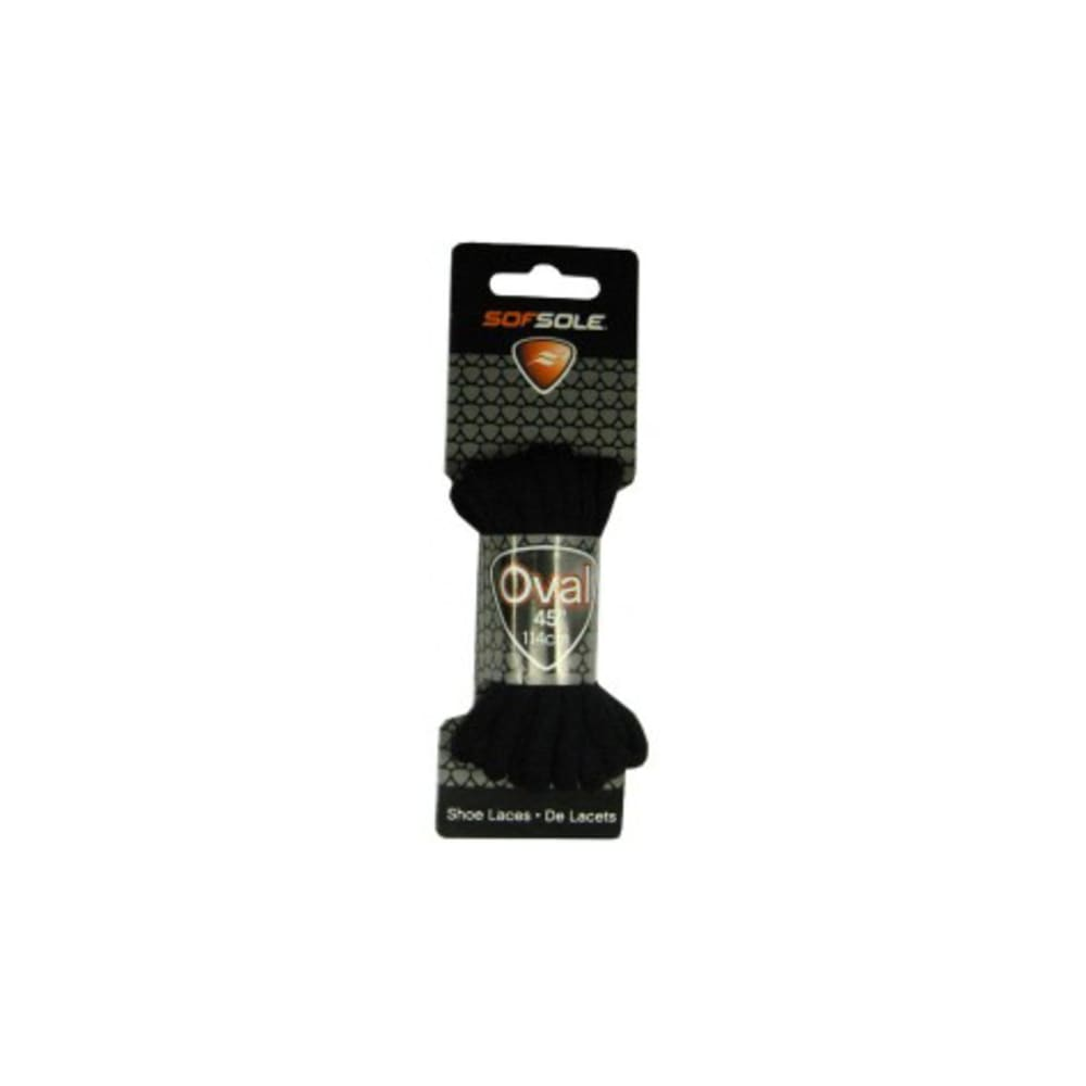 SOF SOLE Laces - BLACK 54 OVAL 83011
