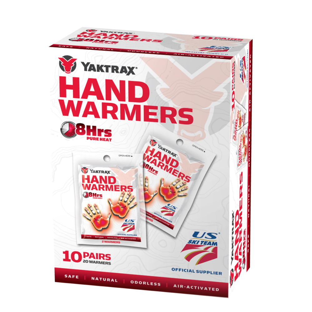 YAKTRAX Hand Warmers, 10-Pack - NO COLOR